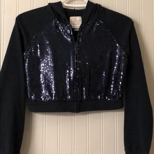 1989 Place Girls Sequin Blue Hoodie Youth Size 14